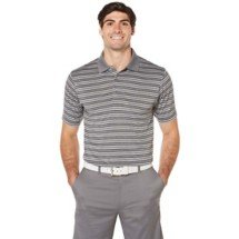 Men's PGA TOUR Heather Stripe Golf Polo
