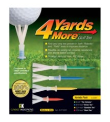 Green Keepers 4 Yards More Golf Tee Variety Pack