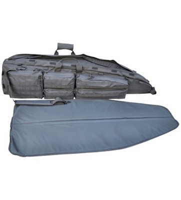 explorer 52 inch rifle drag bag with shooting mat scheels