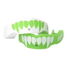 Battle Youth Green/White Fang Mouthguard 2 Pack