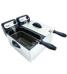 Chard Stainless Steel Double Electric Deep Fryer