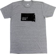 Men's Locally Grown South Dakota Solid State T-Shirt