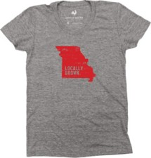 Women's Locally Grown Missouri Solid State T-Shirt