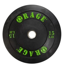 RAGE Fitness Rubber Olympic Pro Bumper Plate
