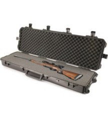 Model iM3300 Double Rifle Hard Case Lockable With In-Line Wheels Black