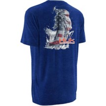 Men's Huk Kscott American Bass T-Shirt