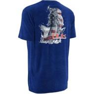 Men's Huk Kscott American Bass T-Shirt