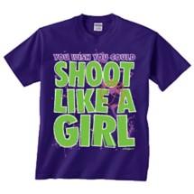 Women's ImageSport Basketball Shoot Like A Girl T-Shirt