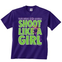 Youth Girls' ImageSport Basketball Shoot Like a Girl Tee