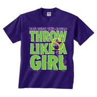 Youth Girls' ImageSport Softball Throw Like a Girl Tee