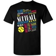 Women's ImageSport Softball Graffiti T-Shirt