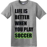 Youth Girls' ImageSport Soccer Life Is Better T-Shirt