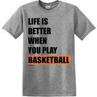 Youth Girls' ImageSport Basketball Life Is Better T-Shirt