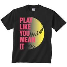 Women's ImageSport Softball Mean It T-Shirt