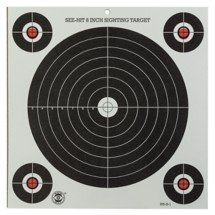 Scheels Outfitters See-Hit Pistol Sighting Target 12 Pack
