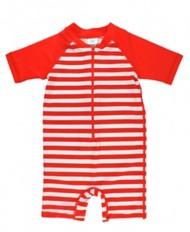 Infant Boys' RuggedButts Red Stripe One Piece Rash Guard