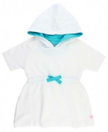 Youth Girls' RuffleButts White Terry Cover Up