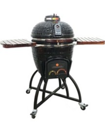 Icon Grills CG401 Charcoal Kamado Grill with Oversized Cart