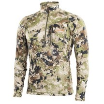 Men's Sitka Core Midweight Zip Long-Sleeve T-Shirt