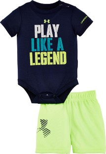 Infant Boys' Under Armour Play Like A Legend Onesie Short Set