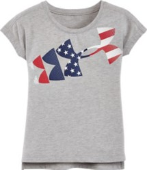Infant Girls' Under Armour American Flag T-Shirt