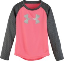 Toddler Girls' Under Armour Checkpoint Shimmer Long Sleeve Shirt