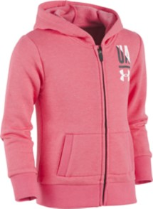 Preschool Girls' Under Armour Favorite Fleece Zip Hoodie