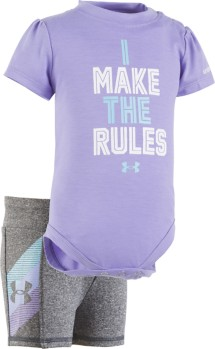 Infant Girls' Under Armour Make Rules Onesie Short Set