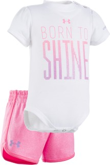 Infant Girls' Under Armour Born To Shine Onesie Short Set
