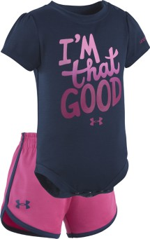 Infant Girls' Under Armour I'm That Good Onesie Short Set