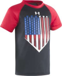 Preschool Boys' Under Armour Americana Batter Raglan T-Shirt