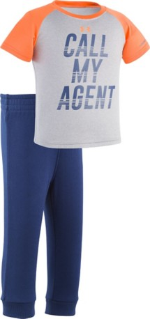 Infant Boys' Under Armour Call My Agent T-Shirt Pant Set