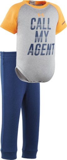 Infant Boys' Under Armour Call My Agent Onesie Pant Set