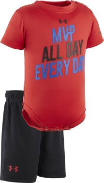Infant Boys' Under Armour All Day Everyday Onesie Short Set