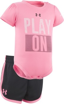 Infant Girls' Under Armour Play On Onesie Short Set