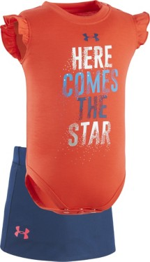 Infant Girls' Under Armour Here Comes The Star Onesie Skort Set