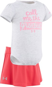 Infant Girls' Under Armour Call Me The Greatest Onesie Skort Set
