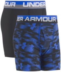 Youth Boys' Under Armour Printed 2 Pack Boxer