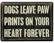 Primitives By Kathy Paw Prints Box Sign