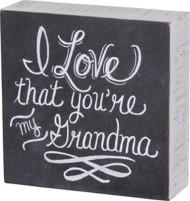 Primitives by Kathy My Grandma Chalk Sign