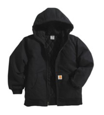 Youth Boys' Carhartt Flannel Lined Quilted Jacket