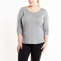 Women's Lucy Workout Long Sleeve Shirt Plus Size