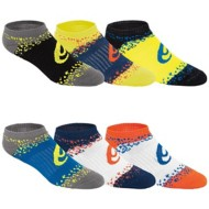 Youth ASICS Splatter No Show 6 Pack Socks