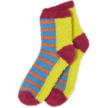 Women's life is good. Stripes And Color Block Snuggle Crew Socks