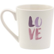 life is good. Love Watercolor Everyday Mug