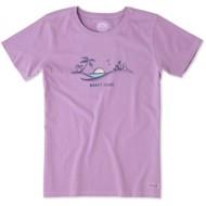 Women's life is good. Happy Hour Beach Short Sleeve Shirt