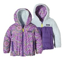 Toddler Girls' Patagonia Reversible Honey Puff Hoody Jacket