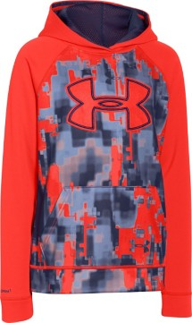 Youth Boys' Under Armour Storm ARMOUR Fleece Printed Big Logo Hoodie