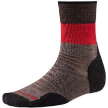 Men's Smartwool PhD Outdoor Light Mid Crew Sock