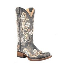 Women's Corral Floral Cowgirl Square Toe Boots